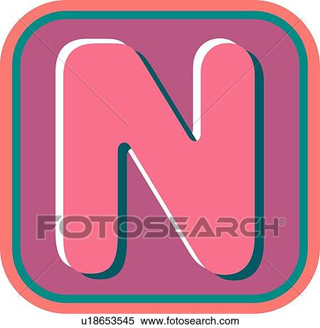 clipart of blister letter n u18653545 search clip art rh fotosearch com clipart n words n clipart black and white