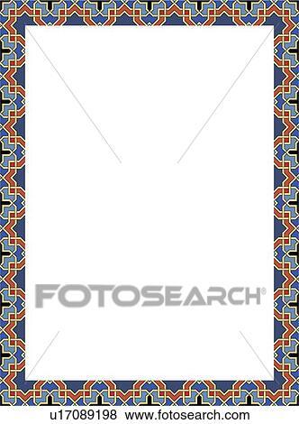 blue and orange border