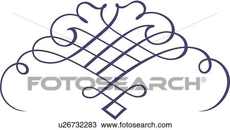 clipart of blue fancy lines and swirls u26732283 search clip art rh fotosearch com