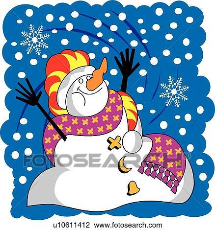 Bonhomme de neige clipart u10611412 fotosearch - Clipart bonhomme de neige ...