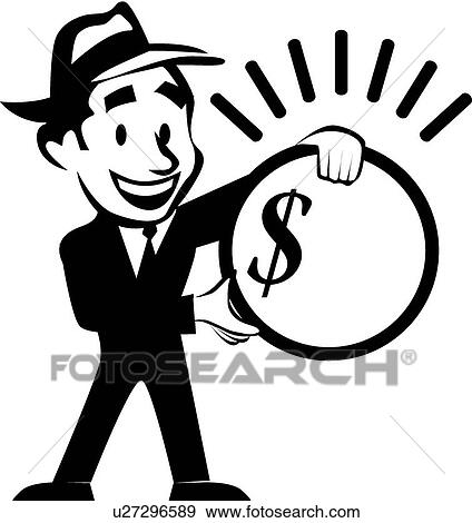 clip art of businessman with money u27296589 search clipart rh fotosearch com clipart business man woman clipart business man with sense of humor