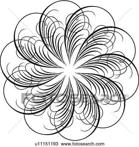 clipart of calligraphic design of feathers in a circle u11151193 rh fotosearch com turkey feathers clipart feather clip art black and white