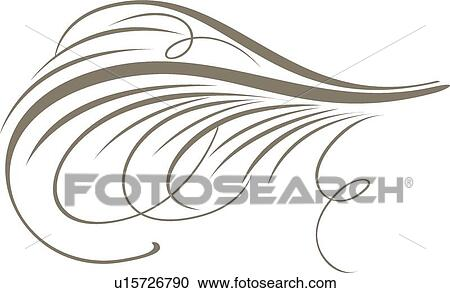 Clipart Of Calligraphy Swirl Design U15726790