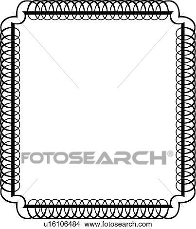 Clipart of Circular Calligraphic Design of square frame u16106484 ...