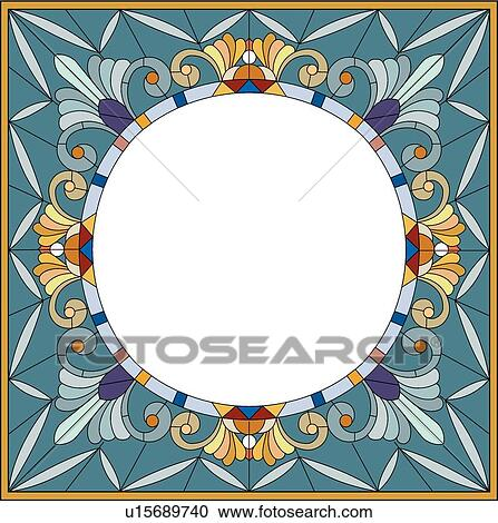 clipart of copy space stained glass looking frame u15689740 search