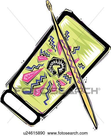 clipart of cowbell u24615890 search clip art illustration murals rh fotosearch com cowbell clipart more cowbell clipart