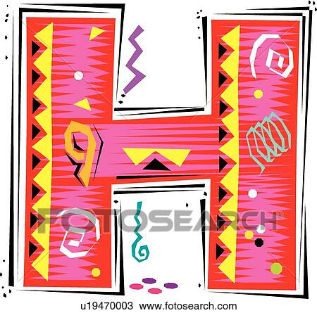 Clipart of fiesta i letter h u19470003 search clip art fiesta i letter h thecheapjerseys Images