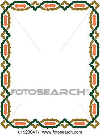 clip art of green coral and brown celtic border u15230417 search rh fotosearch com celtic border clip art celtic border clipart