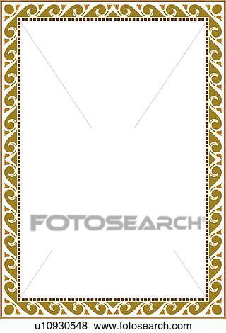 Clip art of green swirl border u10930548 search clipart green swirl border altavistaventures Images