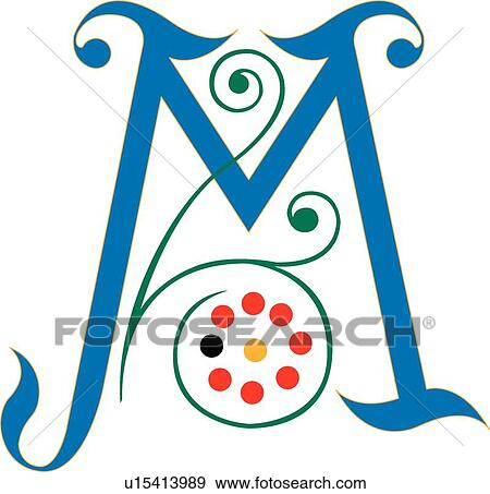clip art of letter m u15413989 search clipart illustration rh fotosearch com letter m clipart images letter m clipart black and white