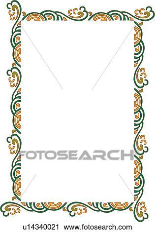 Clipart of orange and green swirl border u14340021 search clip art clipart orange and green swirl border fotosearch search clip art illustration murals altavistaventures Images