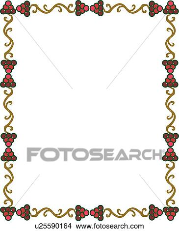 Clipart Of Red Pink And Gold Circle Design Victorian Border