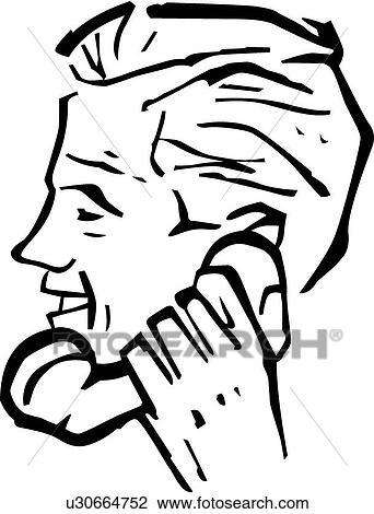 clipart of retro man talking on a phone u30664752 search clip art Retro Typewriter clipart retro man talking on a phone fotosearch search clip art illustration