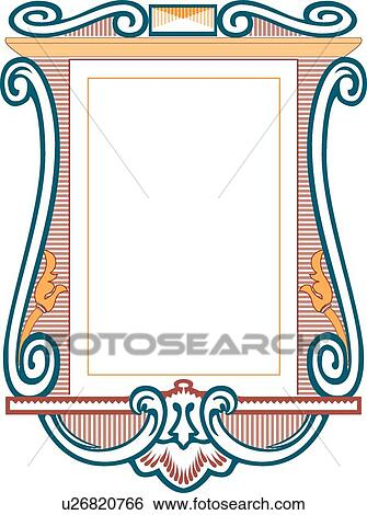 Teal, Orange and Red Banner Clip Art | u26820766 | Fotosearch