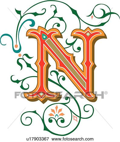 clip art of tuscani letter n u17903367 search clipart rh fotosearch com ncl party package ncl partners