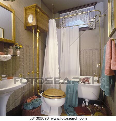Stock Fotografie - badkamers, -, victoriaans, badkamer, met ...
