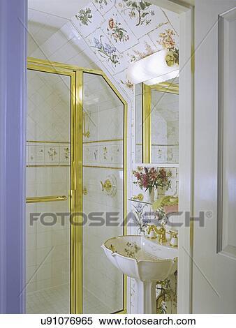 Bathrooms Feminine Touch In Very Small Bathroom Faux