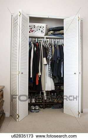 Clothes And Shoes In Closet, San Diego, California, United States Of America