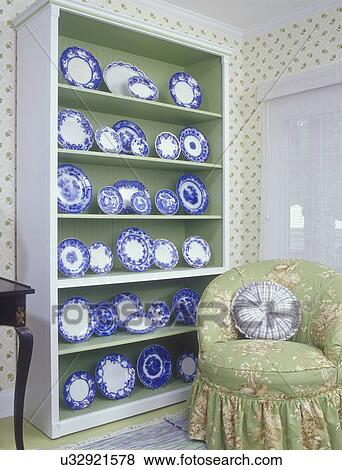 Incredible Collection Displays Antique Flow Blue Porcelain Displayed Machost Co Dining Chair Design Ideas Machostcouk