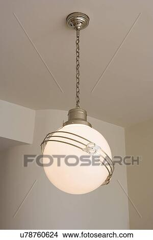Details Light Fixtures Round Globe With Saturn Like Rings Art Deco Mid Century Modern Home