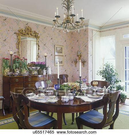 Dining Room Traditional Greek Revival