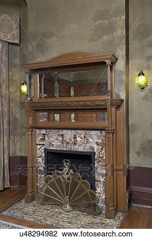Fireplaces Arts And Crafts Home Antique Fireplace With Built In