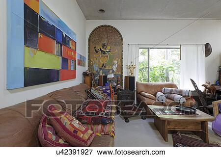 Picture Of Interior Of Messy Living Room U42391927 Search Stock