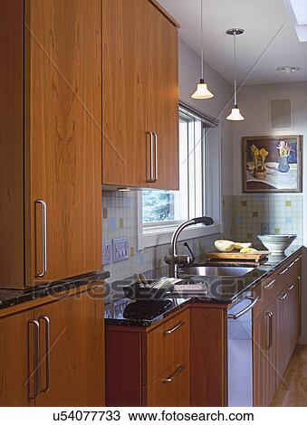 Kitchen Contemporary Style Wood Cabinets Stainless Steel