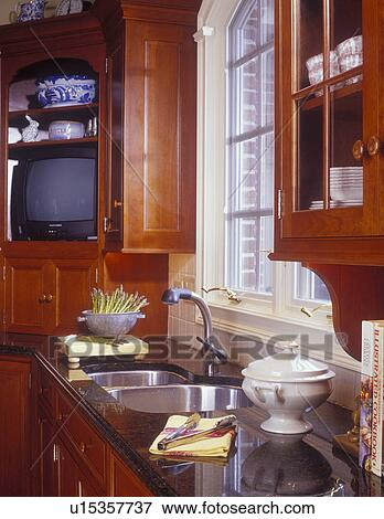 Picture of KITCHEN SINK AREA - View of sink counter area with ...