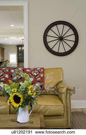 Brilliant Living Rooms Modern Country Palomino Colored Leather Sofa Dailytribune Chair Design For Home Dailytribuneorg