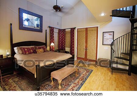Master Bedroom In Middle Class Home Laguna Beach California Usa Stock Photography U35794835 Fotosearch