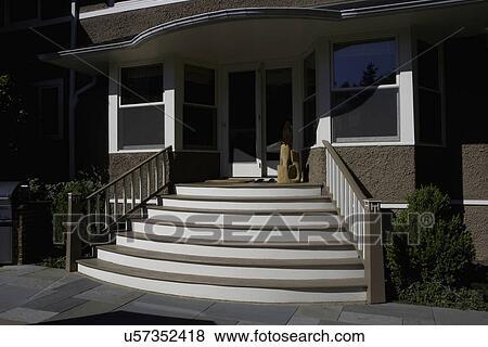 Beelden patio: buitenkant trap van bluestone terras u57352418