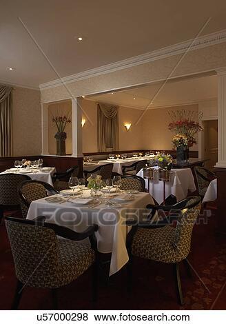Immagini - restaurant:, sala da pranzo, tradizionale, elegante ...