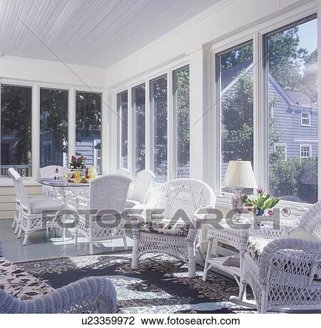 Stock Photo Of Sunrooms Enclosed Add On Salvaged Porch