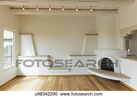 banques de photographies vide salle de s jour dans contemporain sud ouest style maison. Black Bedroom Furniture Sets. Home Design Ideas