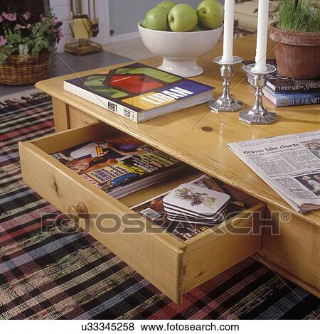 Beelden - woonkamer, details:, koffie tafel, lade, detail, met ...
