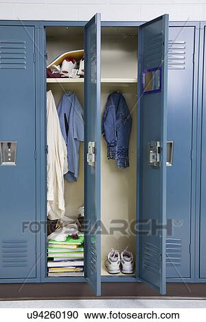 USA Illinois Metamora Open Lockers In School