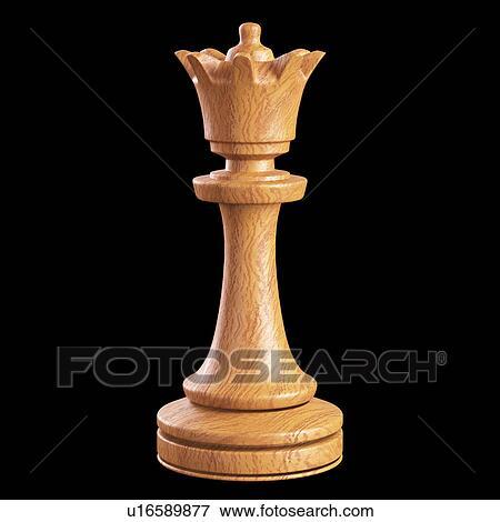 Quot Queen Chess Piece Illustration Quot Stock Illustration