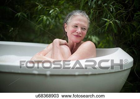 Mature boy bath