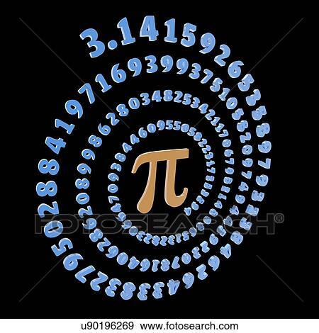 Stock Illustration Of Pi Symbol And Number Artwork U90196269