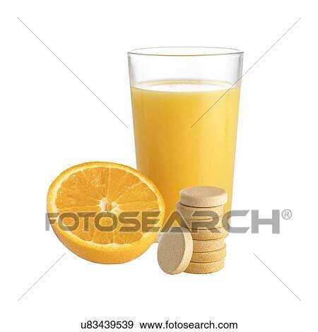 Banque d Illustrations - jus orange, orange fraîche, et, vitamine c ... fd86caacd8a