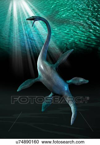 stock photography of plesiosaur u74890160 search stock photos