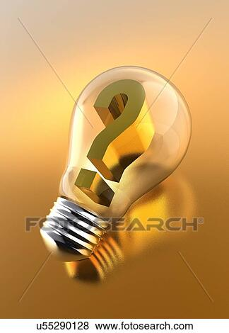 pictures of question mark inside light bulb u55290128 search stock