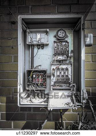 [DIAGRAM_5FD]  Disused fuse box on wall of abandoned industrial building. Stock Photo |  u11230297 | Fotosearch | Industrial Fuse Box |  | Fotosearch