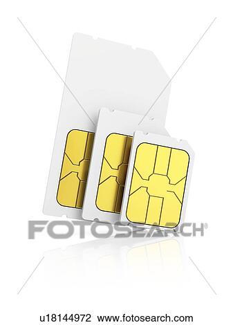 Nano Sim Karte.Drei Sim Karte Sizes Abbildung Von A Mini Sim A Micro Sim Und A Nano Sim Stock Bild