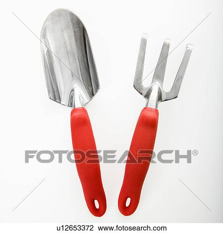 Hand Held Spade And Gardening Fork.