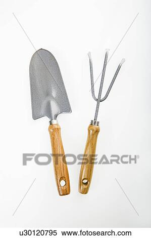 Hand Held Spade And Gardening Fork