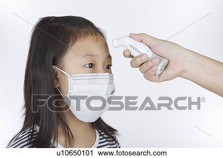 Exam Girl Mask Wearing Medical Having Image Stock And Surgical