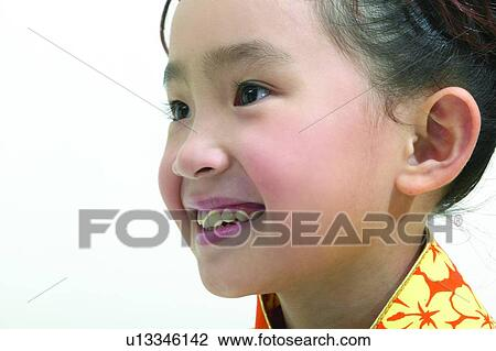 stock photo of one person asian ethnicity one girl only 3 4 years