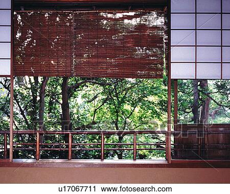 Stock Fotografie Bambus Feste Jalousie In A Japanische Stil